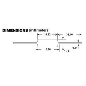 HART Resistor Dimensions